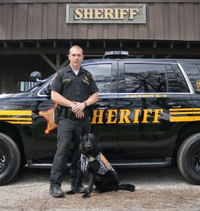 Deputy Justin Galbraith and K9 Fazzo